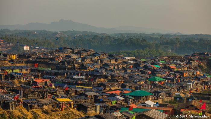 Kutupalong refugee camp in Bangladesh, where many Rohingya have fled to