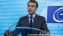 Frankreich Strassburg - Emanuel Macron hält Rede vor dem Europarat