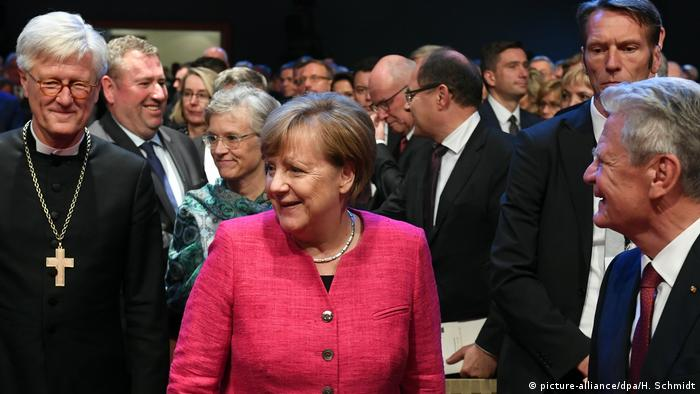 Chancellor Angela Merkel at the Wittenberg celebrations