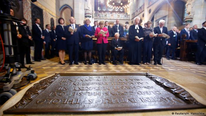 German leaders commemorate the memory of Martin Luther in Wittenberg