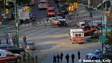 USA New York - Manhattan: Krankenwagen nach Schüssen