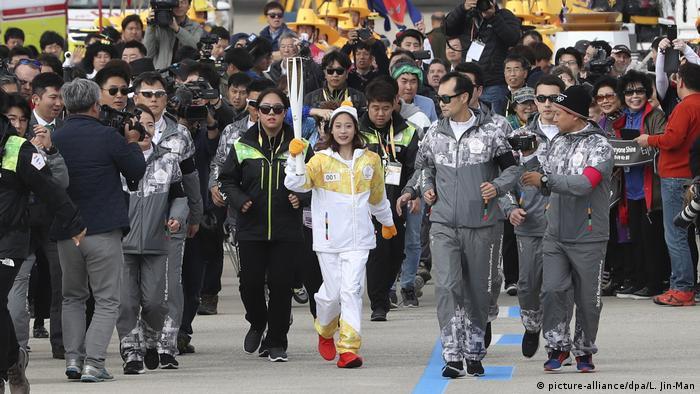 Olympische Flamme trifft in Südkorea ein (picture-alliance/dpa/L. Jin-Man)