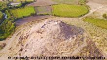 Luftaufnahme des Fundplatzes von Süden