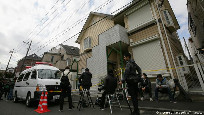 The apartment in Japan where body parts of nine people have been discovered