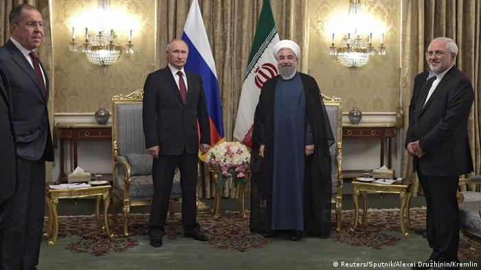 Iran Wladimir Putin & Hassan Rohani in Teheran (Reuters/Sputnik/Alexei Druzhinin/Kremlin)