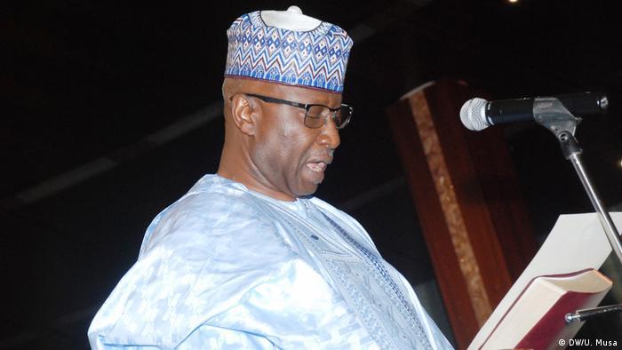 Nigeria Amtseinführung Boss Gida Mustapha