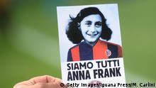 Italien Fußball Lazio Rom - Protest gegen Antisemitismus