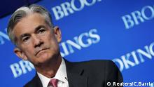 Gouverneur der Federal Reserve, Jerome Powell, besucht eine Konferenz in der Brookings Institution in Washington