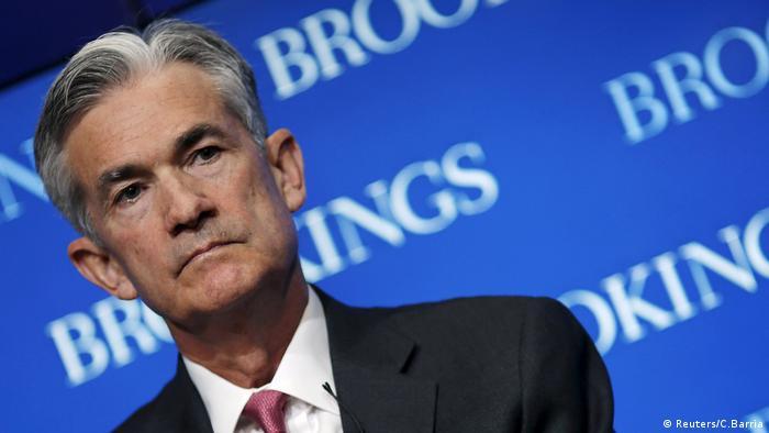 Gouverneur der Federal Reserve, Jerome Powell, besucht eine Konferenz in der Brookings Institution in Washington