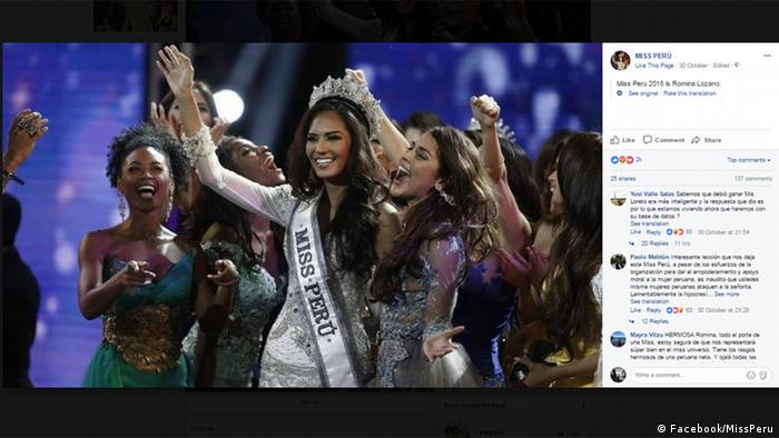 Miss Peru pageant protests sexual violence