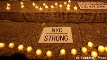 November 1, 2017 Candles are seen during a vigil for victims of the pickup truck attack at Foley Square in New York City, U.S., November 1, 2017. REUTERS/Jeenah Moon
