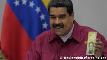 Venezuela - Maduro präsentiert 100 000-Bolivar-Schein