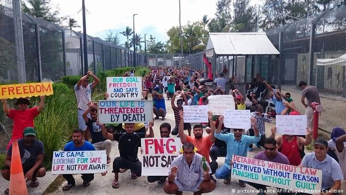 Papua New Guinea Manus Flüchtlingslager Protest (picture-alliance/AP/Refugee Action Coalition)