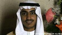 HANDOUT - Ein von der CIA am 01.11.2017 (Ortszeit) veröffentlichter Videograb zeigt Hamza bin Laden, den Sohn des 2011 getöteten Al-Kaida-Chefs Osama bin Laden, bei seiner Hochzeit. Der US-Auslandsgeheimdienst CIAhat ein umfangreiches Archiv mit Videomaterial und einem Tagebuch von bin Laden veröffentlicht. Der Besitz, der im Mai 2011 bei einer Kommandoaktion in Pakistan sichergestellt worden sei, umfasse fast 470 000 Dokumente, teilte die CIA am Mittwoch (Ortszeit) mit. (zu dpa CIAveröffentlicht umfangreiches Archiv Osama binLadens am 02.11.2017) Foto: Uncredited/CIA/dpa +++(c) dpa - Bildfunk+++ |
