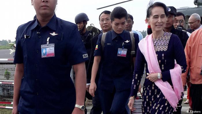 Myanmar Aung San Suu Kyi in Rakhine