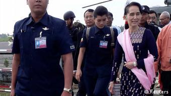 Myanmar Aung San Suu Kyi Besuch in Rakhine