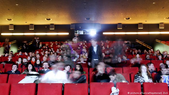 Moviegoers at a cinema in Germany