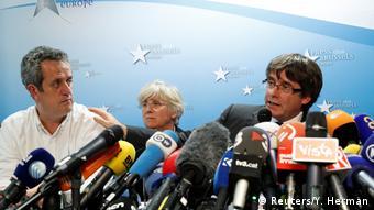 Belgien Carles Puigdemont in Brüssel