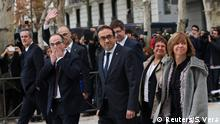 Dismissed Catalan cabinet members arrive at Spain's High Court after being summoned to testify on charges of rebellion, sedition and misuse of public funds for defying the central government by holding a referendum on secession and proclaiming independence, in Madrid, Spain, November 2, 2017. REUTERS/Susana Vera