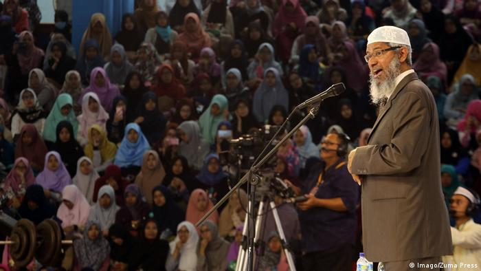 Indonesien Zakir Naik, Prediger Islamic Research Foundation (Imago/Zuma Press)