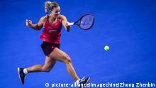 China Tennis Turnier Hengqin Life WTA Zhuhai 2017 | Angelique Kerber, Deutschland (picture-alliance/Imagechine/Zhong Zhenbin)