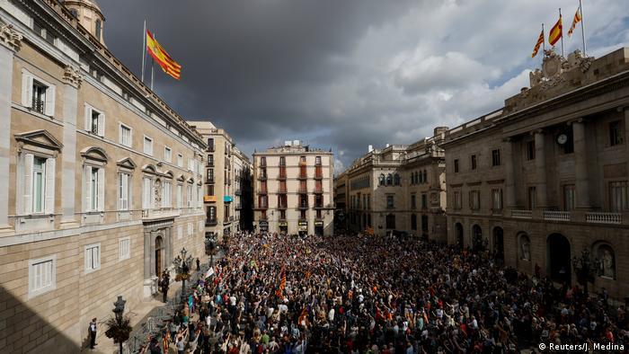 Katalonien Barcelona Demonstration Separatisten (Reuters/J. Medina)