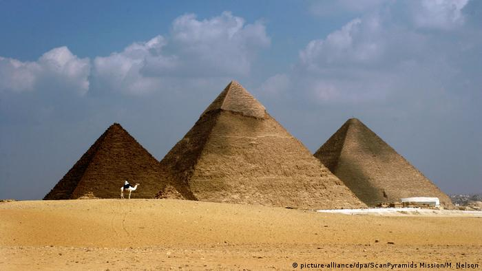 The three pyramids of Giza (picture-alliance/dpa/ScanPyramids Mission/M. Nelson)