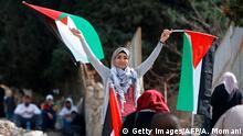 Westjordanland Ramallah 100. Jahrestag Balfour-Deklaration | Proteste, Demonstration (Getty Images/AFP/A. Momani)