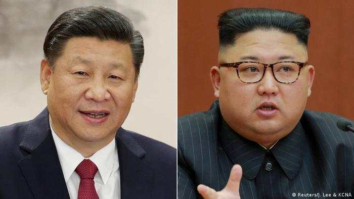 Kombobild Xi Jinping & Kim Jon-un