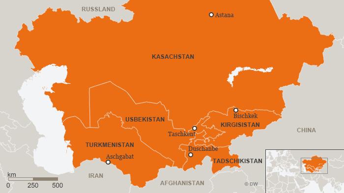 Karte Zentralasien DEU