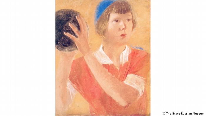 Александр Самохвалов, Девушка с мячом, 1933 г.