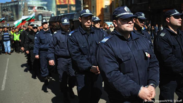 Bulgarien Polizeidemo (Getty Images/AFP/D. Dilkoff)