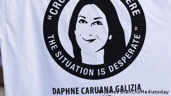 Протесты в Мальте после убийства Дафны Каруаны Галиции