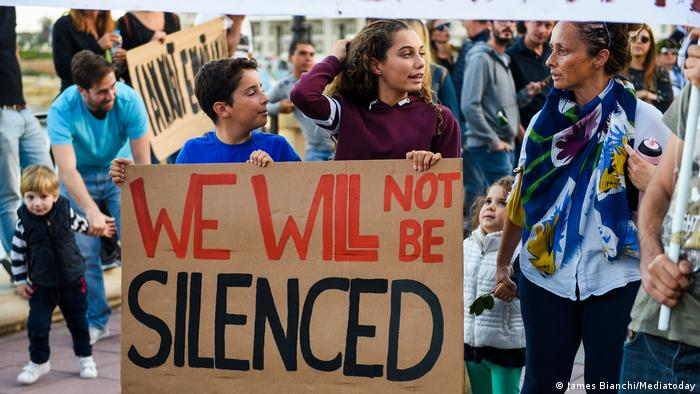 Protesting in Sliema last Sunday, thousands of Maltese said the murder would not silence them