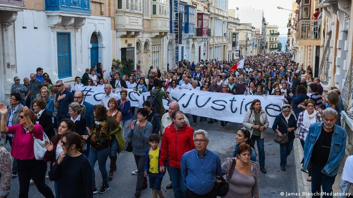 Malta Protest nach Mord an Journalistin Daphne Caruana Galizia (James Bianchi/Mediatoday)