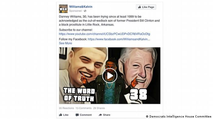 Fake Instagram Facebook Williams & Kalvin Clinton son