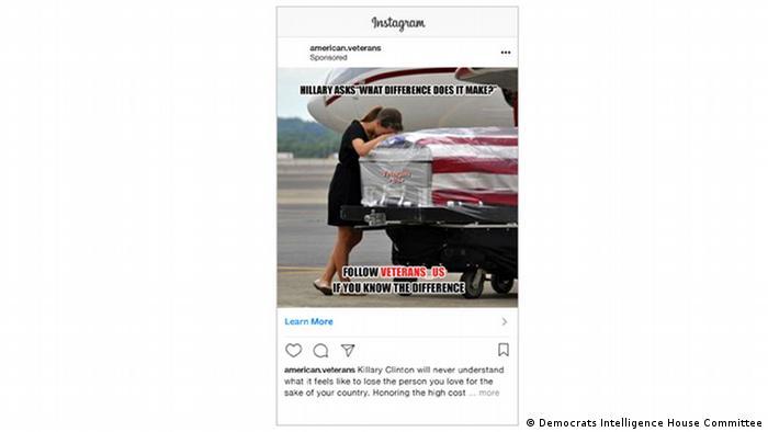 Fake Instagram Ad American Veterans