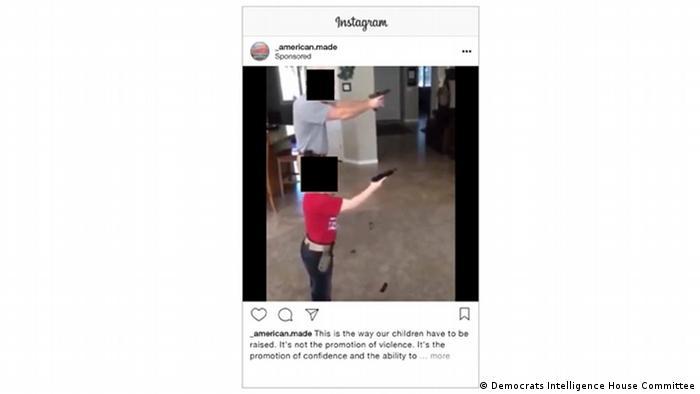 Fake Instagram Ad American Made guns