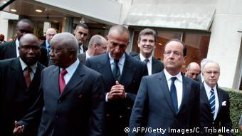 Francois Hollande Armando Guebuza Iskandar Safa