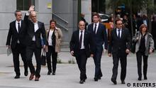 Ehemalige katalonische Kabinettsmitglieder in Madrid