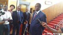 Michel Kafando, Politiker aus Burkina Faso, in Burundi Copyright: Antediteste Nyiragira (DW correspondant in Bujumbura)