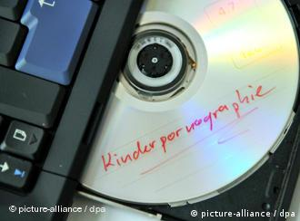 A CD with the title child pornography coming out a computer