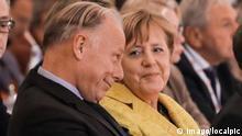 Themen der Woche Bilder des Tages IG BCE Kongress in Hannover, HCC, Jürgen Trittin, Bundeskanzlerin Angela Merkel, *** IG BCE Congress in Hanover HCC Jürgen Trittin Chancellor Angela Merkel