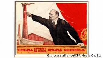 Russland Plakat Oktoberrevolution Lenin