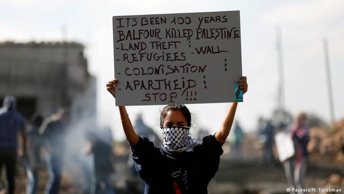 Israel Proteste gegen die Balfour Deklaration in Kofr Qadom bei Nablus