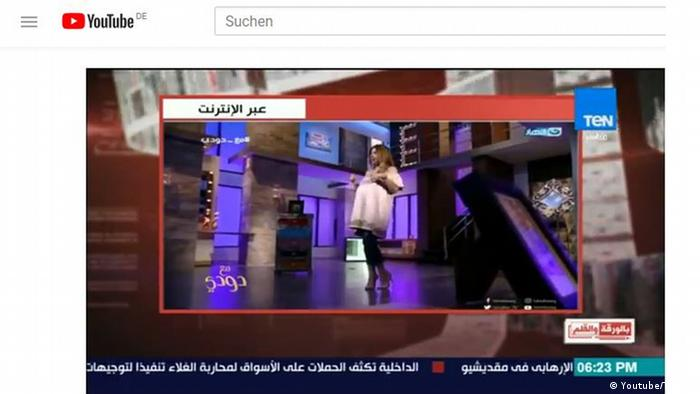Screenshot Youtube Verurteilung einer Moderatorin in Ägypten (Youtube/TeN TV)
