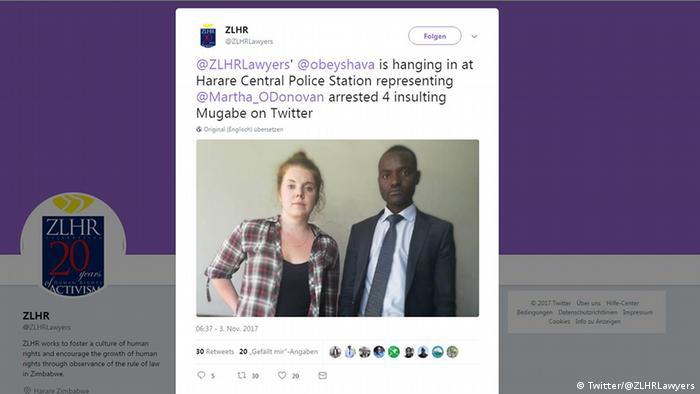 Tweet US-Amerikaner in Simbabwe wegen Beleidigung von Präsident Mugabe verhaftet