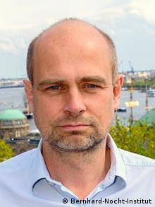 Jürgen May, Leiter der Infektionsepidemiologie am Bernhard-Nocht-Institut für Tropenmedizin BNITM