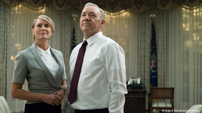 Robin Wright and Kevin Spacey as Claire and Frank Underwood in House of Cards (David Giesbrecht/AP/dpa)