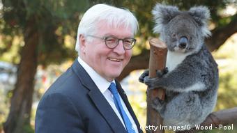 Steinmeier with koala